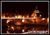 Rome: Tevere river (torenet82) Tags: bridge italy rome roma night river san italia fiume il ponte vaticano tevere capitale acqua monumenti notte pietro cupolone lungo lungoiltevere bellitalia