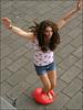 Balloons 4 (Hal Heaven) Tags: red feet balloons jumping toes legs polish jewellery crushing barefoot pedicure ballons smashing stomping femdom ballong popping luftballons springen barfuss squishing zertreten