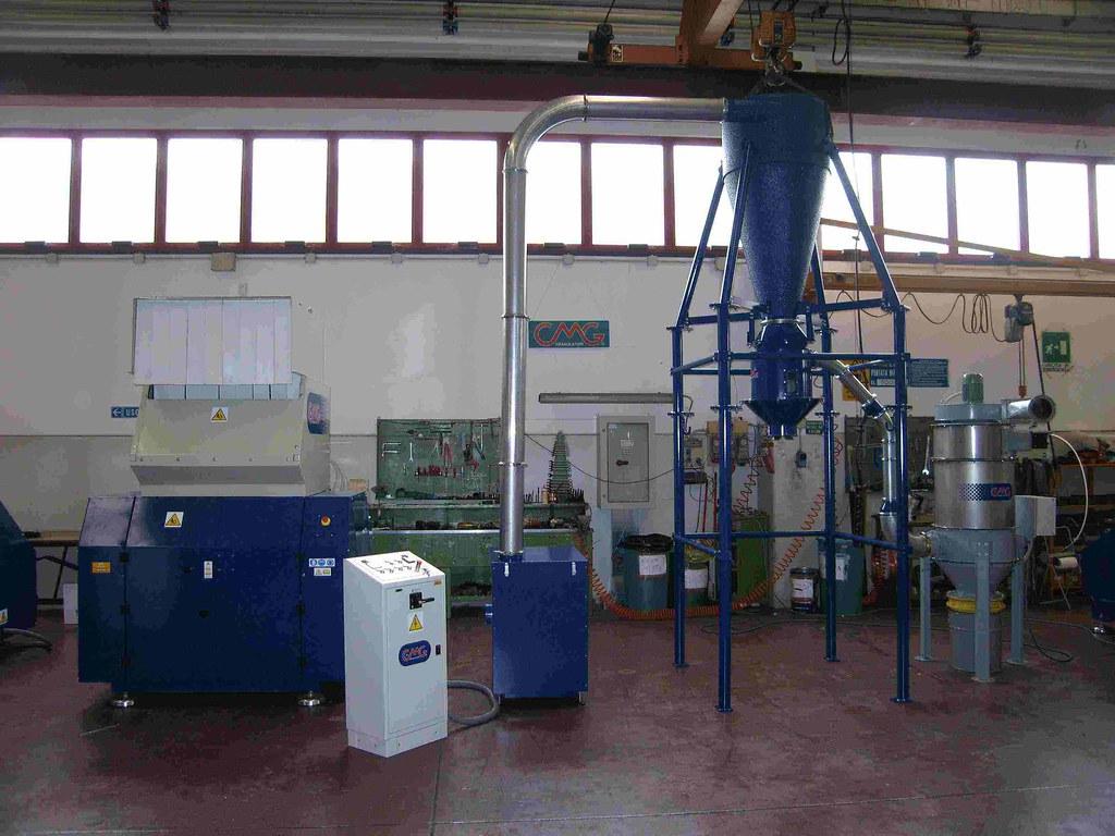 Cmg Spa: Trasporto con filtrazione e depolverazione - Conveying de-dusting & air filtering systems