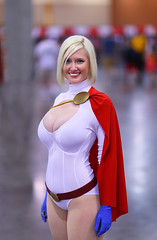 Power Girl 2011 Phoenix Comic-con: Explore May 30, 2011 #409 (gbrummett) Tags: beautiful fun cosplay bokeh comiccon powergirl i500 img9869 canonef85mmf12liiusmlens canoneos5dmarkiicamera artisawoman grantbrummett 2011phoenixcomicon exploremay302011409