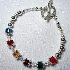 Mothers Birthstone Bracelet (tealwaterdesigns) Tags: jewelry bracelet swarovski birthstone custommade sterlingsilver tealwaterdesigns