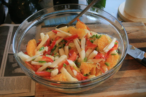 Orange and Jicama Salad with Spicy Peppers
