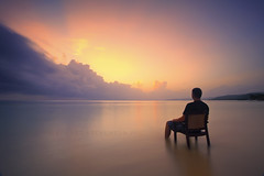 Take me away (Stuart Stevenson) Tags: chair sitting jamaica caribbean carribeansea ochorios inthesea watchingthesunrise