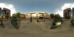 Lyon Part-Dieu (gadl) Tags: panorama france place lyon gare 21 gimp trainstation handheld 360° 360°x180° hugin partdieu enblend equirectangular viviermerle lapartdieu 69003 maza34 lyonpartdieu