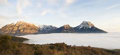 Sierra Ferrera (elosoenpersona) Tags: sunset espaa mountain mountains clouds de landscape mar spain huesca paisaje sierra nubes punta summit montaa pyrenees pea montaas cima pirineos ferrera montaesa elosoenpersona purtolas lierga