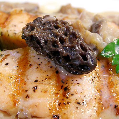 煎鮭魚佐羊肚菇和豆泥-090116