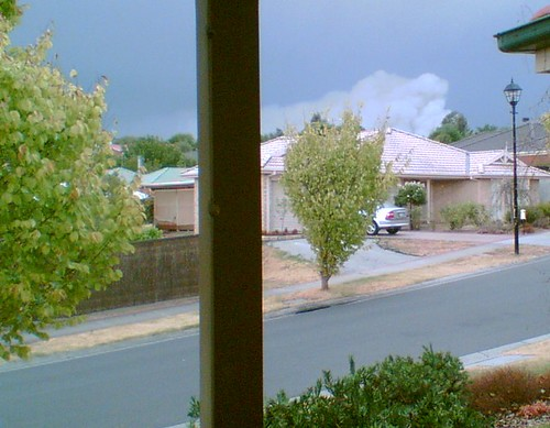 Smoke seen from Chirnside Park