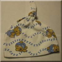 Sleepy Bear Knotted Infant Hat Blue