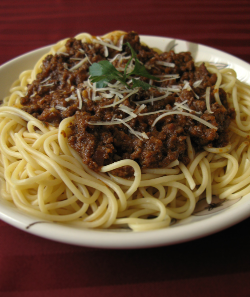 Bolognese close-up