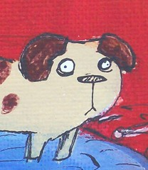 General Lethargy - Close Up (Knottwood) Tags: original silly painting funny acrylic bright humourous