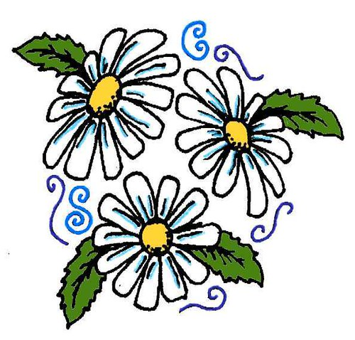 daisy tattoo. The second tattoo I ever designed.