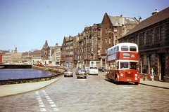 The Shore, Leith, 1974 (georgeupstairs) Tags: bus edinburgh orion leith titan doubledecker leyland mcw theshore pd220