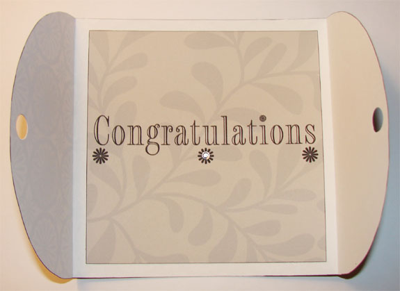 Black and White Congratulations Card (Inside)