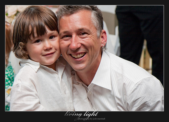 Troy and son. Wedding photography from Tea Gardens.