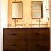 8 Drawer Dark Oak Vanity and Mirrors