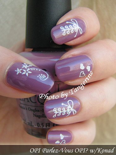 OPI Parlez-Vous OPI? w/Konad, left hand by you.
