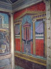 Fresco wall painting in a cubiculum (bedroom) (peterjr1961) Tags: nyc newyorkcity newyork art museum themet metropolitanmuseumofart
