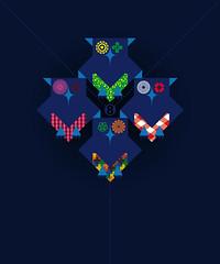 gufetti (Cristian Mantovani) Tags: illustration design graphic 8 owl vector illustrazione gufi vettoriale zedo cristianmantovani