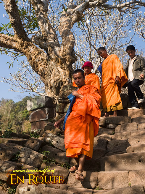 Wat Phu Champasak Monks