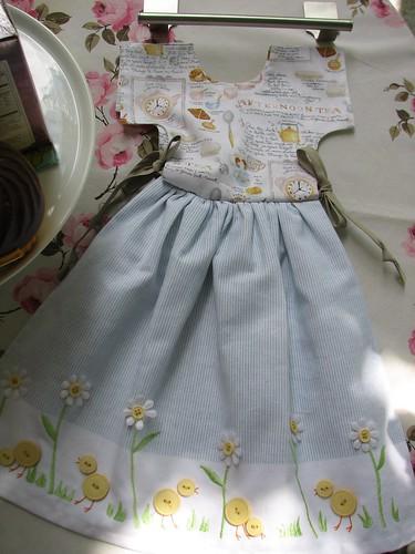 dressed up tea towel and hanger