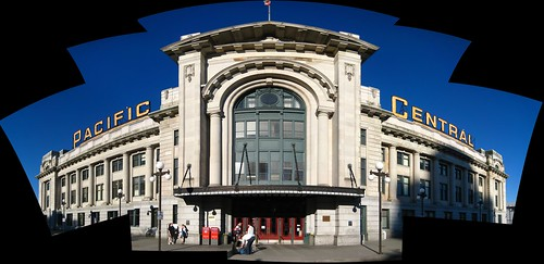 Vancouver's Pacific Central Station Panorama