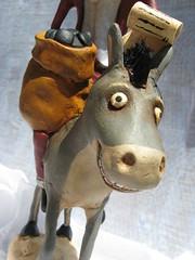 IMG_4053 (crescent hill designs) Tags: santa christmas old holiday art saint st funny time folk nick bad donkey evil creepy spooky kris claus sack coal jingles mule whimsical primitive kringle spookytime