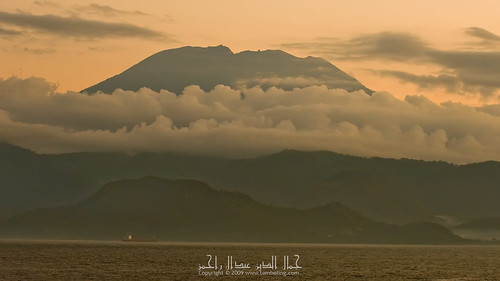 Mount Agung - seen from the ferry