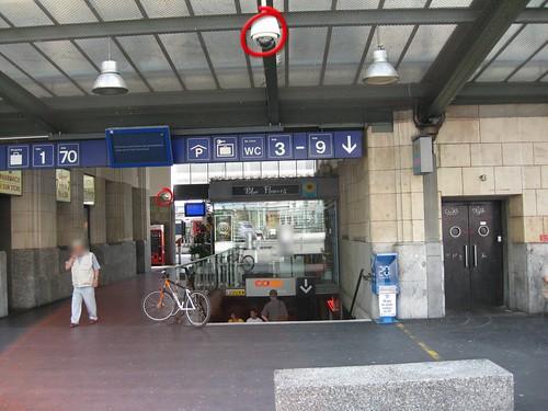 Videokamera Unterführung West Bahnhof Lausanne