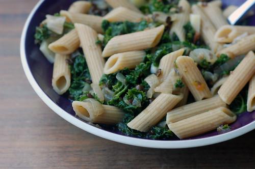 kale and lentil pasta