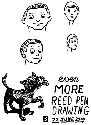 Even more reed pen drawing