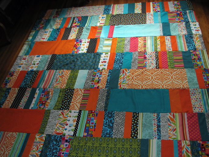 quilt progress - facing