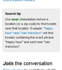 Twitter search tip