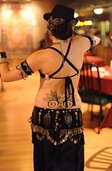 Ayperi at the Med Hookah 06 12 09 (Drumdude Bill) Tags: beautiful bellydancing madisonwisconsin nikkor50mmf14d ayperi nikond700 mediterraneanhookahloungeandcafe drumbeatphotography
