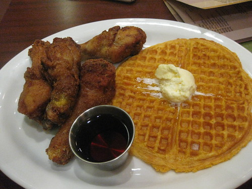 Gussie's Chicken and Waffles in San Francisco - Sweet potato waffle