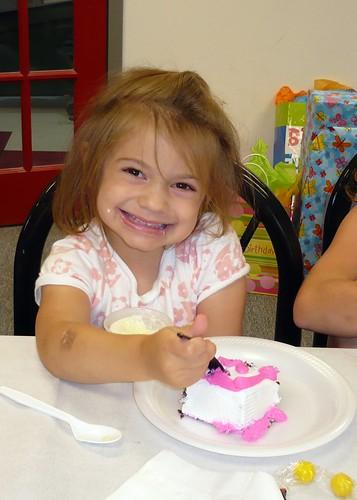 Alana eats some birthday cake