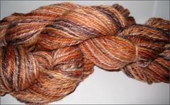 Apricot Cinder Merino-Silk yarn