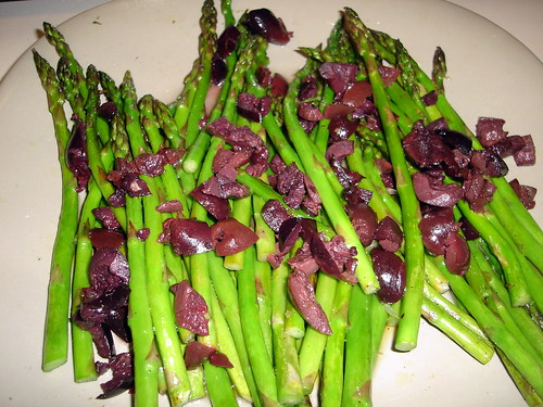 Grilled Asparagus with Fresh Lemon and Olives