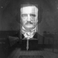Edgar Allan Poe (maruebe) Tags: old blackandwhite bw collage photoshop square virginia raum room 11 66 sw ea poe komposition quadrat quadratisch edgarallanpoe bildbearbeitung schwarzweis maruebe marionüberschaer cmarionüberschaer marionueberschaer cmarionueberschaer
