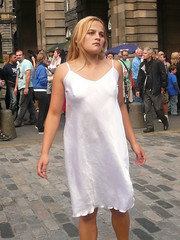 edinburgh fringe 2009: Inventing the Sky (chairmanblueslovakia) Tags: street city sky people ballet girl rain st festival scotland dance high edinburgh theatre russia capital silk royal scottish petersburg fringe blonde 2009 mile physical the inventing