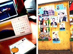 Voter Card Election Posters August 20 (From Afghanistan With Loveّ) Tags: world travel afghanistan pumpkin democracy election presidential posters vote 2009 voting electorate zeerak safrang hamesha javaid