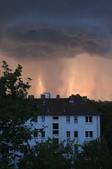 rain that looks like fire (penjelly) Tags: sky cloud house rain dark fire frankfurt himmel wolke haus burning feuer brennen regen dunkel dster
