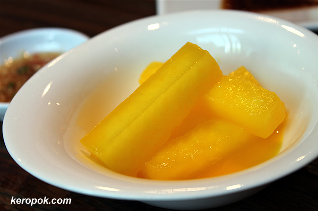Orange and Winter Gourd Dessert