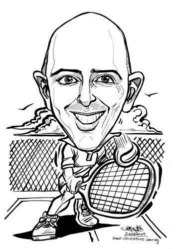 Caricature for IHG - tennis