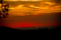 Blood red sunset (A.C.Thamer) Tags: red sky canon fire losangeles smoke burn photographs blaze fireseason stationfire thamerphotography acthamer alexthamer gkow