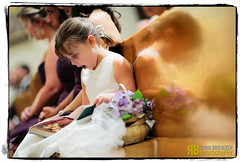 A Shocking Prayer Book (Ryan Brenizer) Tags: wedding newyork cute girl nikon funny noflash flowergirl gardencity weddingphotojournalism 135mmf2ddc d700