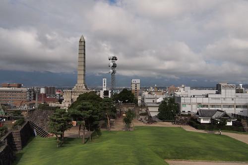 the top area of Kofu Maizuru-jo Park por double-h.