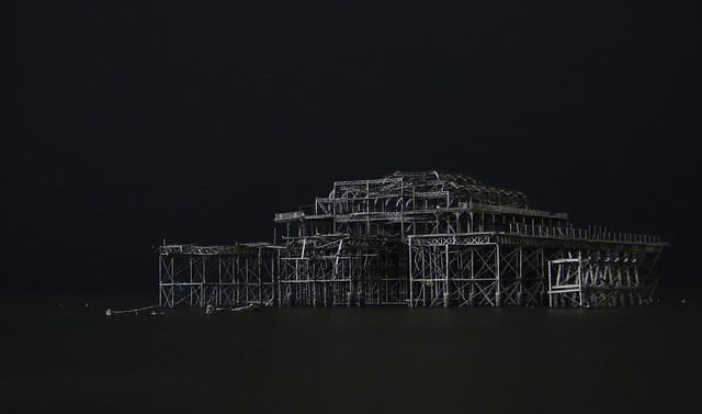 Snow Covered West Pier - revisited