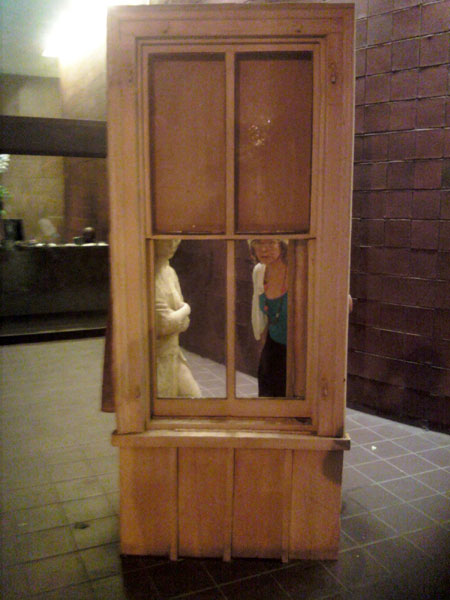 "George Segal's ""Woman Looking Through a Window"" (Click to enlarge)"