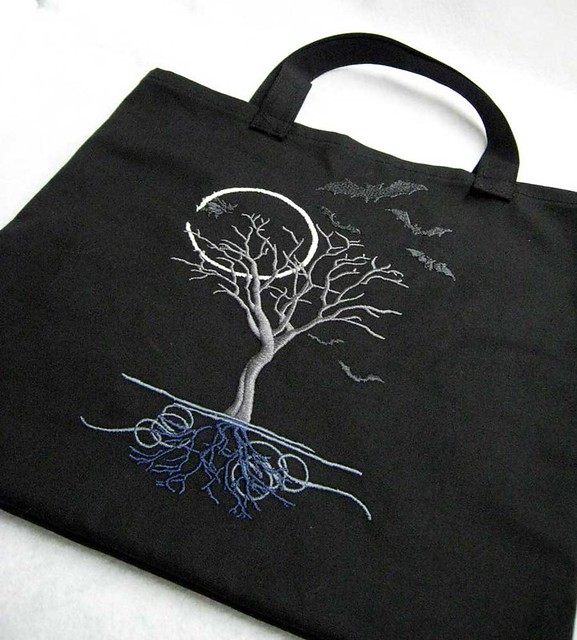 Moon-lit tree tote bag