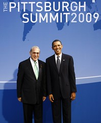 Angel Gurría, OECD Secretary-General, and Barack Obama, US President